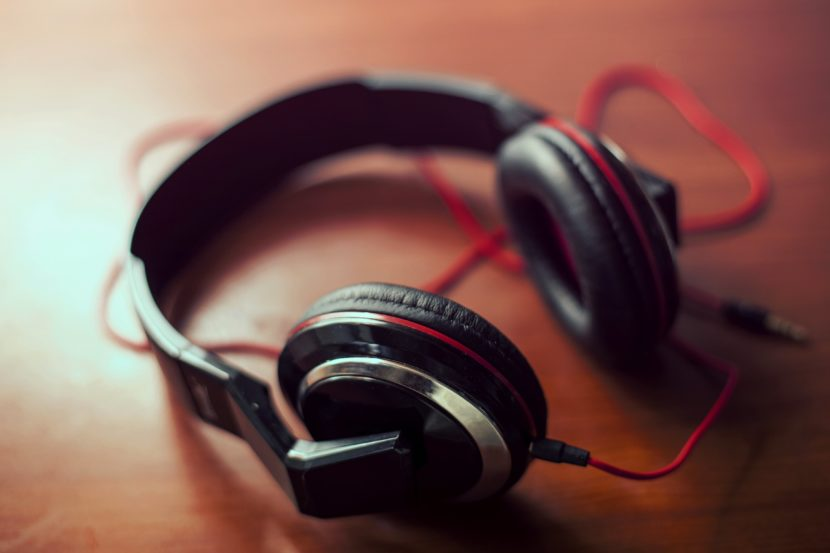 Headphones for listening to stress relief music