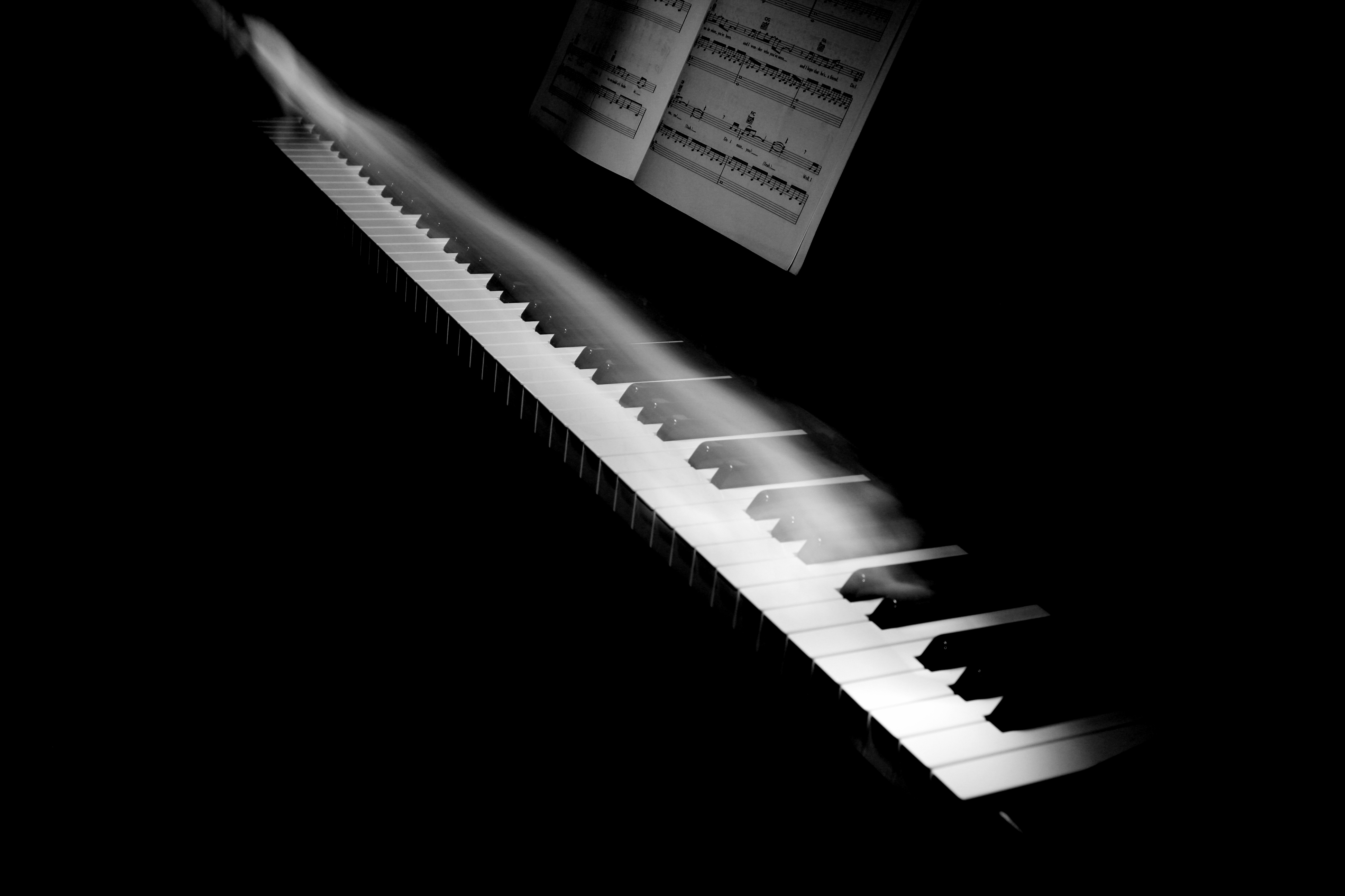 Piano for composing stress relief music